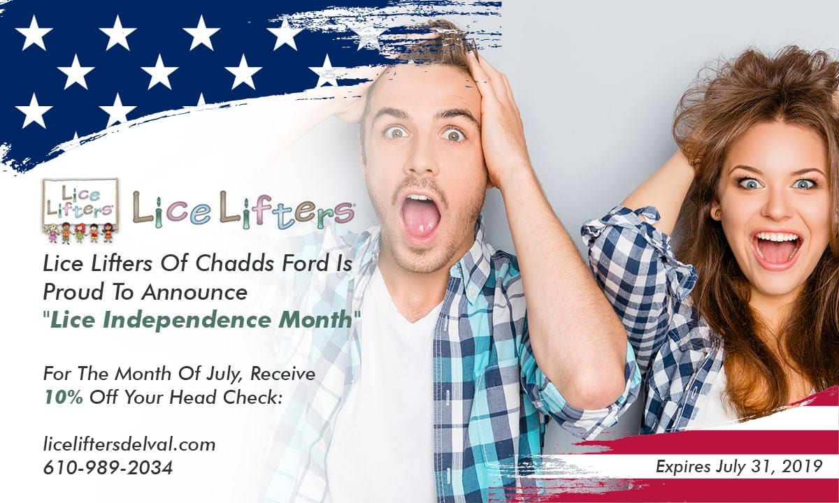 Lice Lifters Chadds Ford - July 4th Promotion